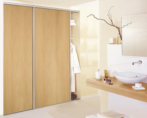 2 flg schiebet r zimmert r holz dekor buche 2 5x1 8m auf. Black Bedroom Furniture Sets. Home Design Ideas