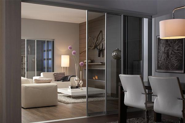 Wohnzimmer mit schiebet ren von und mit inova gestalten - Trennwand glas wohnzimmer ...