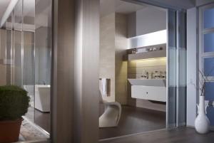 Schiebetür | Raumteiler | Badezimmer offen | www.inova-wohnen.com