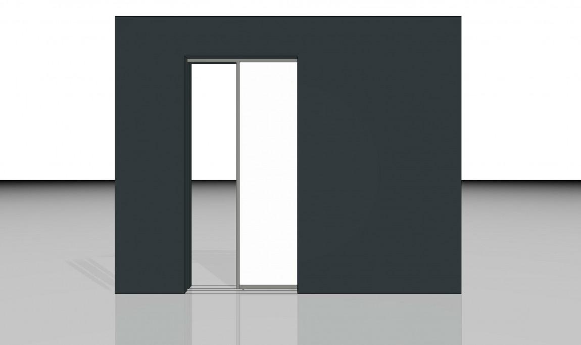 schiebetuer in der wand laufend inova schiebet ren und. Black Bedroom Furniture Sets. Home Design Ideas