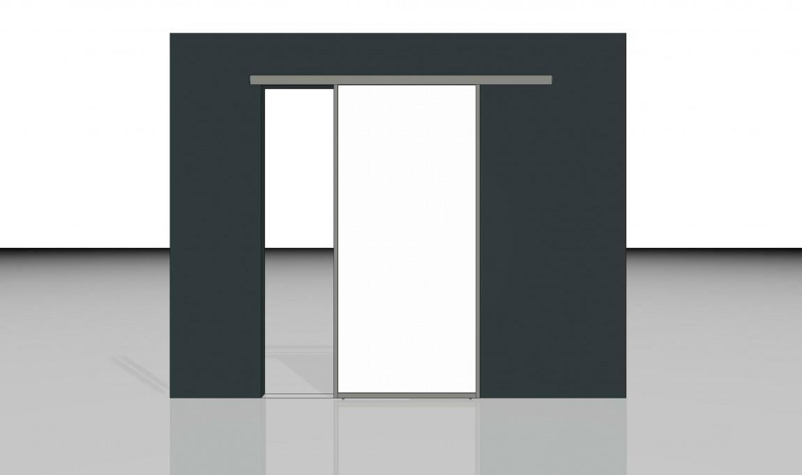 schiebetuer unter der decke laufend inova schiebet ren. Black Bedroom Furniture Sets. Home Design Ideas