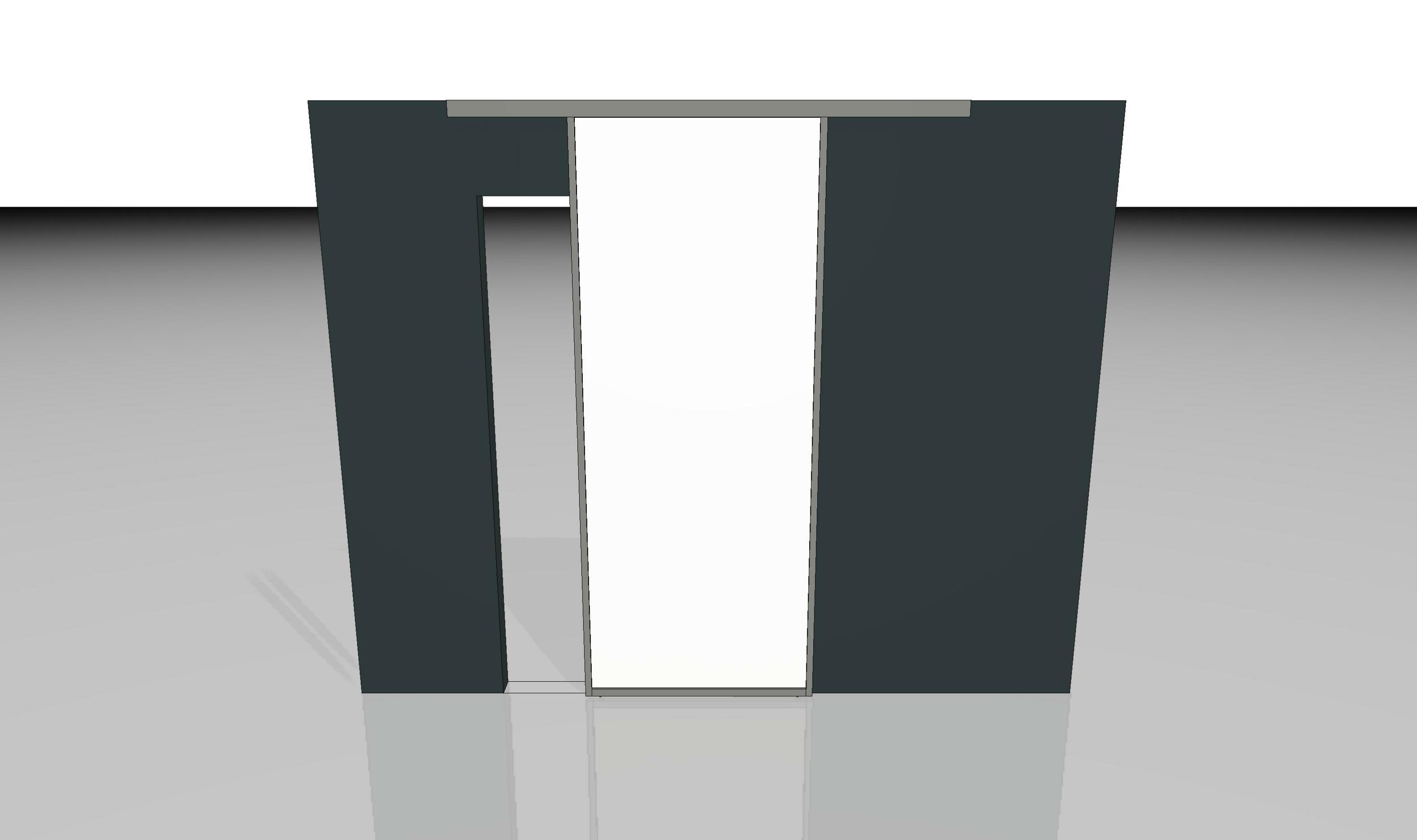 schiebetuer vor der wand laufend inova schiebet ren und raumspar l sungen. Black Bedroom Furniture Sets. Home Design Ideas